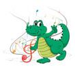 A dancing dinosaur