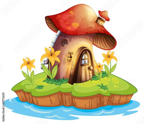 Aluminium Magische wereld A mushroom house