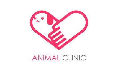動物病院のロゴマーク