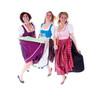 Drei springende Mädchen im Dirndl