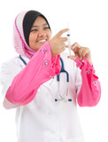 Muslim female medical doctor