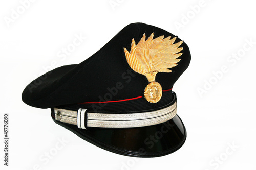 Close up of Carabinieri marshal hat