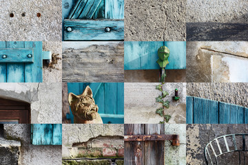 collage - house wall details