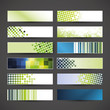 Set of 12 blank abstract banner designs