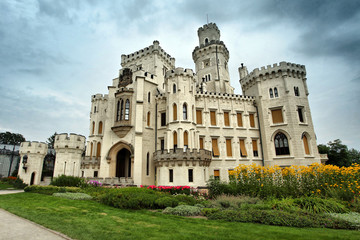 Beautiful renaissance castle Hluboka
