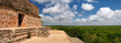 The panoramic view from one of the most beautiful pyramids in th
