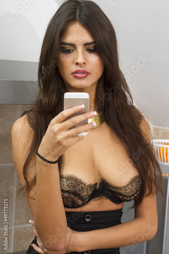 beutiful woman with mobile phone