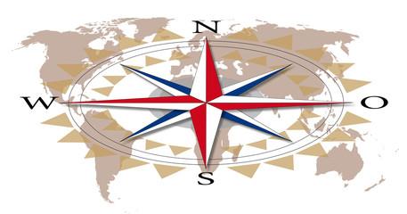 Kompass, Navigation, Himmelsrichtung, Erde, Globus,