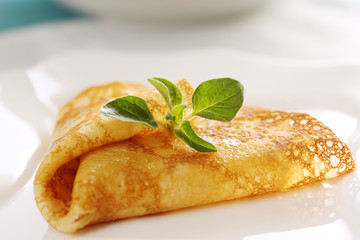 Pancake with oregano