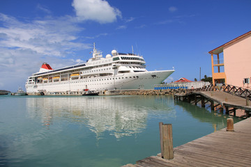 Cruise Ship Docked in Antigua Barbuda