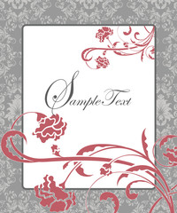 damask flower background with place for text