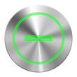 Edelstahl  - Button Grün