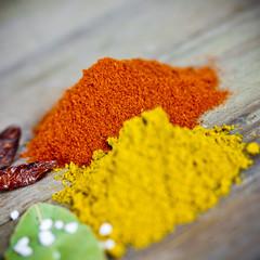 Paprika und Curry