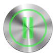 Edelstahl Pause Button Grün