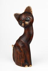 gatto di legno