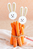 Carrots and paper rabbits