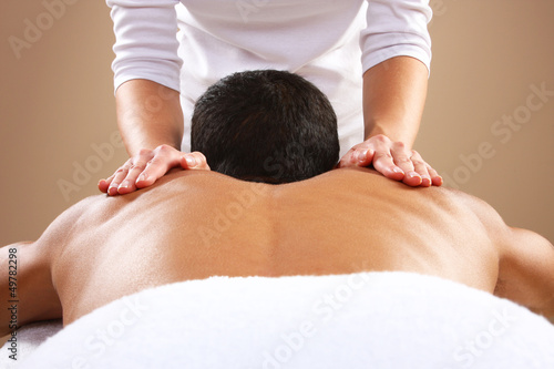 Leinwandbild Motiv Man Massage