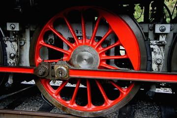 detail of steam locomotive, depot Luzna u Rakovnika, CZ