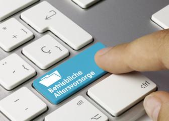Betriebliche Altersvorsorge Tastatur Finger