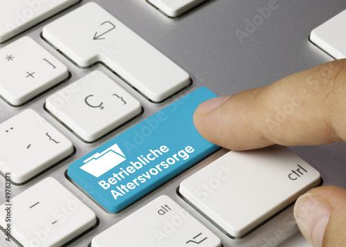 Betriebliche Altersvorsorge Tastatur Finger - 49782871