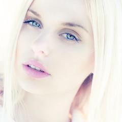 sexy portrait of a beautiful girl closeup