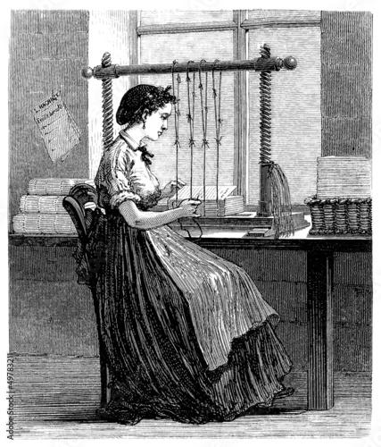 Worker : Book Binding - Reliure - 19th century - 49783211