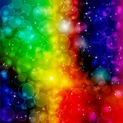 Bright colorful cosmic background