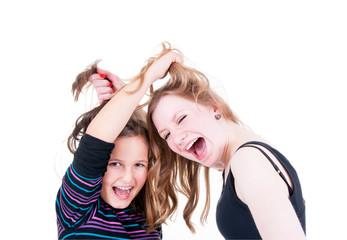 Mädchen im Streit