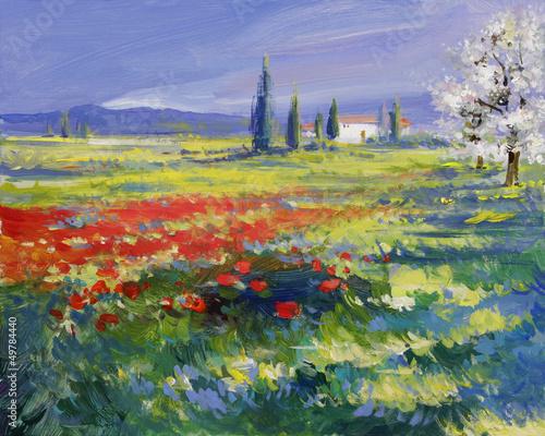 sommer landschaft malerei - 49784440