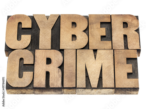 cyber crime in wood type