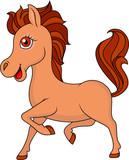 Brown horse cartoon
