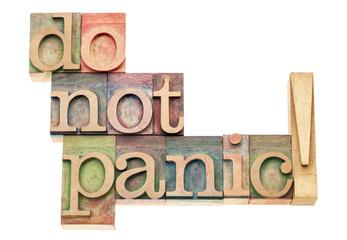 do not panic
