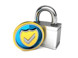 geprüfte Sicherheit blau/silber/gold