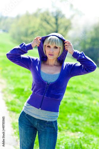 woman in hoody