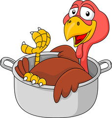 Turkey in the saucepan