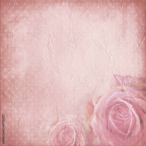 Vintage background for invitation or congratulation with roses