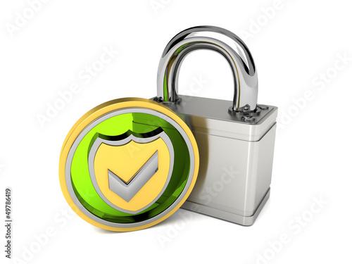 geprüfte Sicherheit grün/silber/gold
