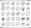 Постер, плакат: Hand drawn emoticons