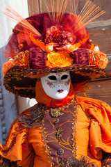 Beautiful image of the costumes at Venice during carnival