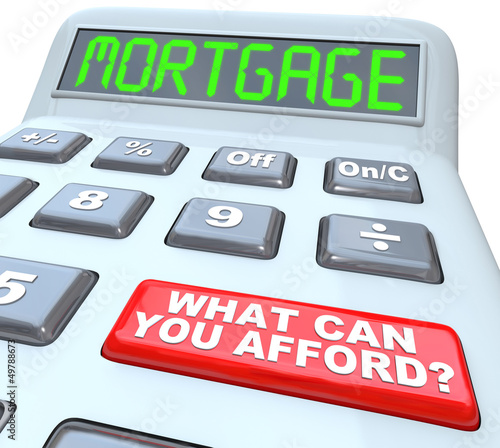 Mortgage What Can You Afford - Words on Calculator