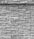 Decorative brick wall. Grey brick wall.