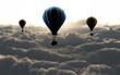 Leinwandbild Motiv air balloon on sky