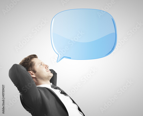 man with bubble talk
