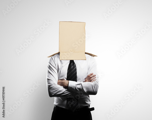 box on head