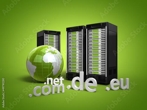 3 Webserver mit Globus und Top-Level-Domains grün