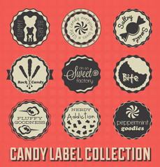 Vector Set: Candy and Sweets Labels and Icons