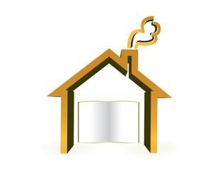 house book, symbol education