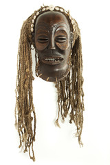 Old antique african tribal mask - chokwe