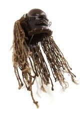 Old antique african tribal mask .chokwe