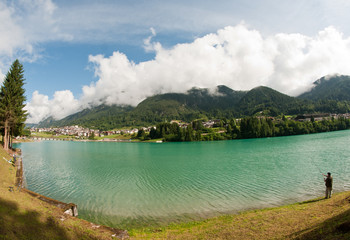 Lake of Auronzo, Italy
